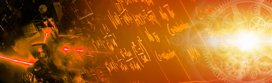 Banner showing quantum information equations on a chalkboard